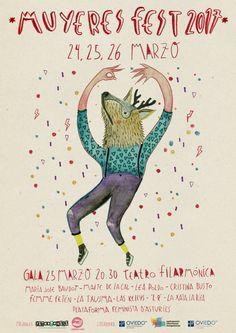 "Design ""Muyeres Fest"" Maria Jose, Movie Posters, Design, Art, Oviedo, Woman, Art Background, Film Poster, Popcorn Posters"