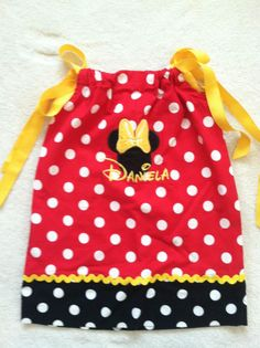 Gift Sew Fine Minnie Mouse Polka Dot Pillow case Dress for girl size