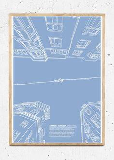 MTLOC: Copenhagen Lamp - str. 30x40 og 50x70 plakat fra Hamide Design Studio Design Studios, Aarhus, Copenhagen, Neon, Map, Illustration, Inspiration, Biblical Inspiration, Studio Spaces