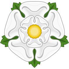 La rose blanche de la Maison de York - celle du roi Richard III, de la dynastie Plantagenêt.