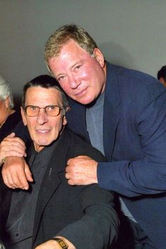 A great shot of life-time buds, Leonard Nemoy and William Shatner - posted on Tumblr by Trekker 46