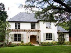 described this dallas house as slurred brick (like mortar wash).  good colors.