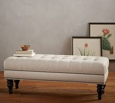 Martin Upholstered Bench, Performance Everydaylinen(TM) By Crypton(R) Home  Stone