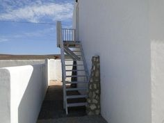 Outside staircase to loft