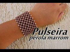 NM Bijoux - Pulseira pérola marrom - YouTube