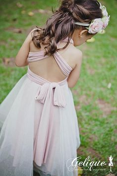 Gelique Flower Girl Convertible, Infinity, Wrap Dress with Tutu