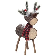 Excellent Christmas deco tips are offered on our site. Check it out and you wont be sorry you did. Christmas Log, Christmas Towels, Christmas Wood Crafts, Christmas Projects, Simple Christmas, Christmas Time, Christmas Ornaments, Holiday, Christmas Deer Decorations