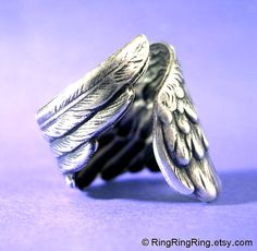 Angel wing ring - They are my Ganny's wings. I want this!