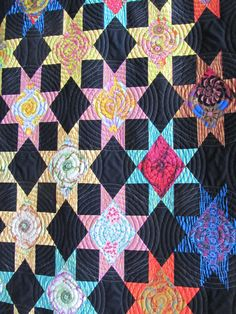Star Struck quilt by Becky Ball:  Kaffe Fassett fabrics, posted at Quiltmaker