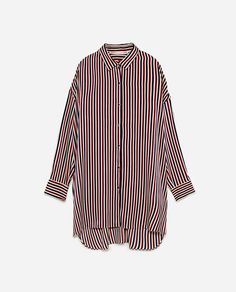 Image 6 of OVERSIZED STRIPED SHIRT from Zara