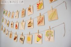 Project Nursery - Vintage Flashcards as Wall Decor for the Nursery