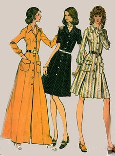 Vintage 70s Sewing Pattern McCalls 3480 RETRO Dress by sandritocat, $15.00
