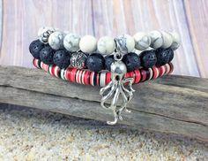 Stack Bracelet Set Stretch Bracelet Set by TropicallyInclined