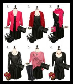 6 ways to sprice up an LBD for Valentines Day...provided by FlourishBoutique.com via momadvice.com