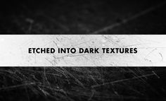 Etched Into Dark Texture Pack – Scratched Surface Textures