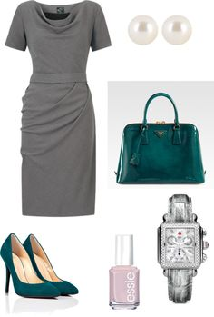 """gray and teal office"" by jassyg33 on Polyvore"