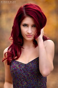 Red hair color for long hairstyle