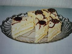 Ananásové rezy recept Czech Desserts, Nutella, Cheesecake, Dessert Recipes, Cooking Recipes, Sweets, Cookies, Baking, Fruit
