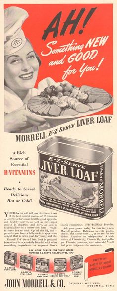 Morrell Liver Loaf, 1941 - just when you thought Spam couldn't get any worse