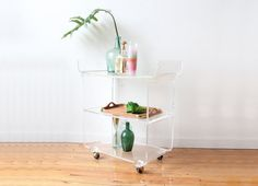 Tiered Lucite Bar Cart
