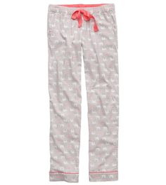 Grey Aerie Flannel Pajama Pant - Cute and comfy! #Aerie