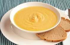Sweet Potato, Butternut Squash, Carrot and Ginger Soup   THM E soup. Serve w baked chicken, 0% Greek yogurt, or other lean protein.