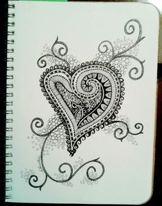 my heart speaks... My 2nd doddle art pin!