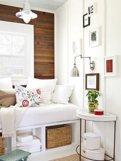 7 Genius Ways to Design a Small SpaceTucked-Away Guest Room.  What do you do with a odd six-by-six room? Install a daybed that doubles as guest sleeping space and a reading nook.