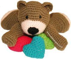 Osito Amigurumi - Patrón  Gratis en Español aquí: http://www.tejiendoperu.com/amigurumi/ositos-teddy-bear/