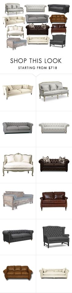 """""""Favourite Home Styles by Sofas: classic, rustic, French country, farmhouse, industrial, ski lodge, preppy"""" by alattinb ❤ liked on Polyvore featuring interior, interiors, interior design, home, home decor, interior decorating, Andrew Martin, Dot & Bo, Zentique and rustic"""