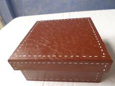 caja imitacion piel