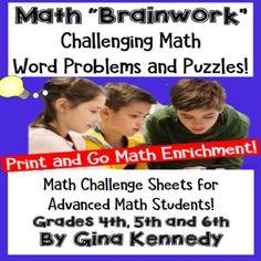 Math Problem-Solving, Challenge Math for Gifted and Advanc