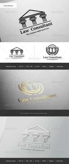 Law Consultant V2 Logo — Vector EPS #office #badge • Available here → https://graphicriver.net/item/law-consultant-v2-logo/5771868?ref=pxcr