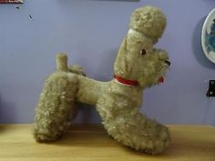 Vintage-Stuff-Toy-Poodle-dog-with-moveable-legs-rare-and-old