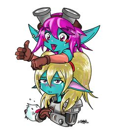 Poppy and Tristana (league of legends) by FrankyCalavera