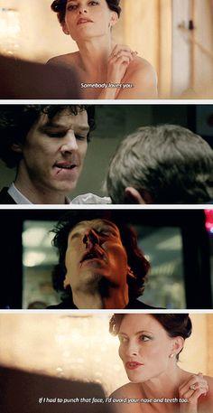 Sherlock and John. Does this mean John doesn't love sherlock anymore! D': ---- comment lol<< nooooooooooooooo noooo the feels Sherlock Holmes, Sherlock Fandom, Sherlock Irene Adler, Watson Sherlock, Jim Moriarty, Sherlock Quotes, Sherlock John, Martin Freeman, Benedict Cumberbatch