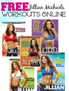 Did you know you can Watch FREE Jillian Michael's Workout Videos Online, You just stream them to your TV or Computer! This is one of the cheapest ways to workout at home and get in shape for the new year! Online Workout Videos, Workout Videos For Women, Fun Workouts, At Home Workouts, Fitness Diet, Fitness Motivation, Fat Yoga, Body Makeover, Jillian Michaels