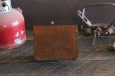 Leather Trifold Mountain Wallet by Willow Creek Leather Co.