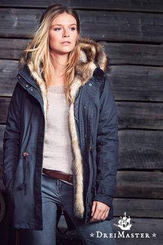 Winterjacke Fake Fur Parka DreiMaster
