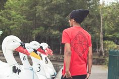 This one can definitely be your guide out at see, compass design on high quality red cotton