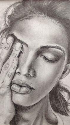Woman Sketch, Girl Sketch, Pencil Art, Pencil Drawings, Portrait Art, Portraits, Ballpoint Pen Art, Colouring Pages, Coloring