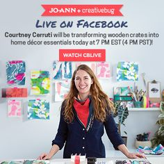 Jo-Ann + Creativebug   Learn How To Turn Wooden Crates Into Home Decor