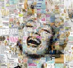 Collage that is just like Marilyn Monroe, whose life was all in the magazines...