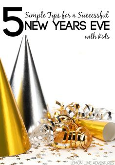 New Year's Eve with Kids | I love these tips for keeping New Year's simple with the kids especially the tip about Midnight! So helpful!