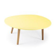 Ray Coffee Table, Yellow/Oak - Department - Department - RoyalDesign.co.uk