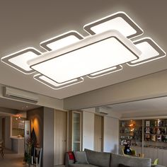 3 5 6 Heads Modern Crystal LED Ceiling Lights Fixture Rain Drop