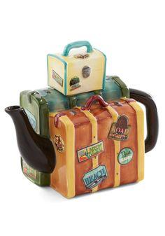 Pack Your Tea Bags! Teapot, @ModCloth