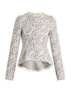 Gabrielle lace-neoprene peplum jacket | Erdem | MATCHESFASHION.COM US