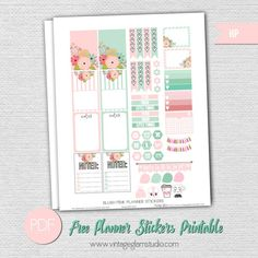 Blush Pink Planner Stickers | Free printable