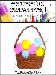 Easter Basket Diy Crafts To Do, Holiday Crafts For Kids, July Crafts, Easy Crafts For Kids, Arts And Crafts Projects, Art For Kids, Christmas Crafts, Fathers Day Crafts, Valentine Day Crafts